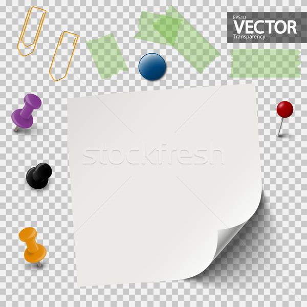 empty paper with office accessories Stock photo © opicobello