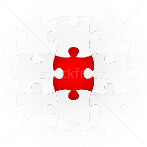 パズル 特別 接続 グレー 1 ストックフォト © opicobello