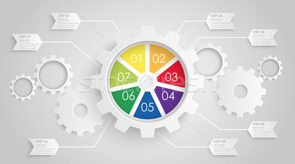 Viselet kerekek info grafika együttműködés csapatmunka szimbolizmus Stock fotó © opicobello