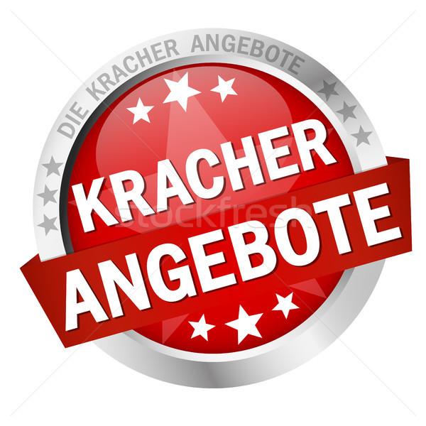 Button with Banner Kracherangebote Stock photo © opicobello