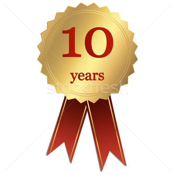 10 anni compleanno oro società medaglia celebrazione Foto d'archivio © opicobello
