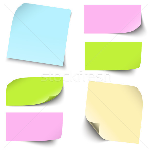 colored sticky notes collection Stock photo © opicobello