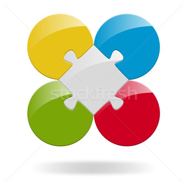 Puzzle lehetőségek munka háttér információ grafikon Stock fotó © opicobello