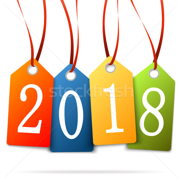 hanging numbers new year 2018 Stock photo © opicobello