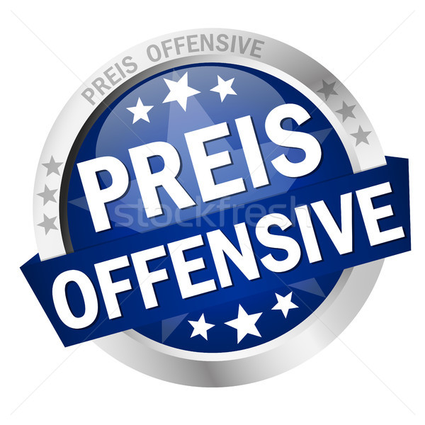 Button with Banner Preisoffensive Stock photo © opicobello
