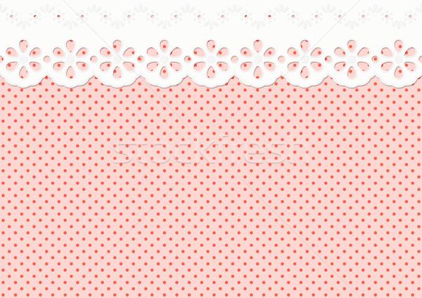Feston / ornament on spotted pattern - endless Stock photo © opicobello
