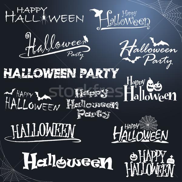 Farklı halloween toplama beyaz renkli resimli Stok fotoğraf © opicobello