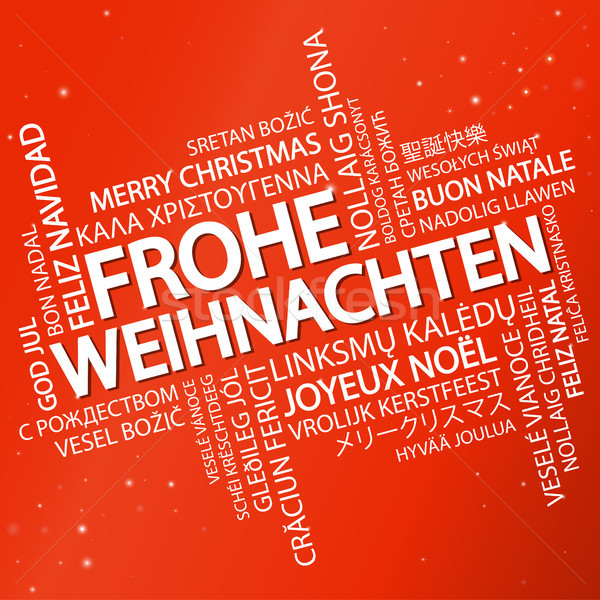Word cloud Merry Christmas (in German) Stock photo © opicobello
