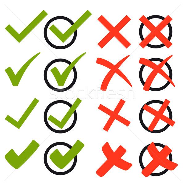 コレクション クロス フック 赤 停止 投票 ストックフォト © opicobello