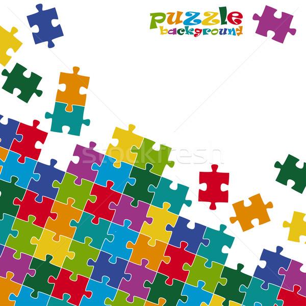 Puzzle pieces background colored Stock photo © opicobello