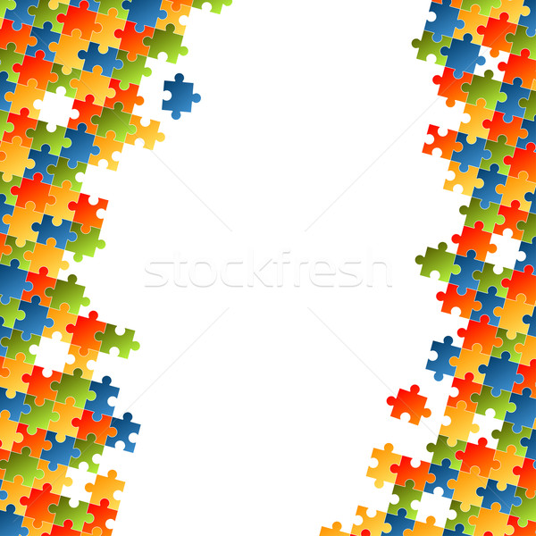 Puzzle pieces colorful background Stock photo © opicobello
