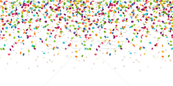 seamless colored confetti background Stock photo © opicobello