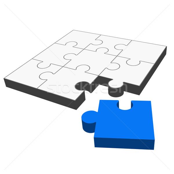 Puzzle 3D - it fits! Stock photo © opicobello
