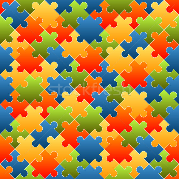 Puzzle pieces background colored - endless Stock photo © opicobello