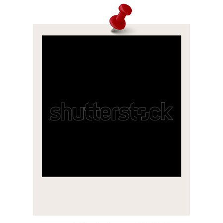 Polaroid Pin иглы бумаги фон кадр Сток-фото © opicobello