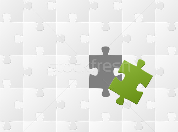 the matching puzzle piece Stock photo © opicobello