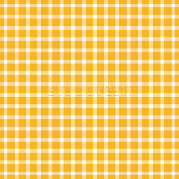 Sem costura tabela pano padrão amarelo Foto stock © opicobello