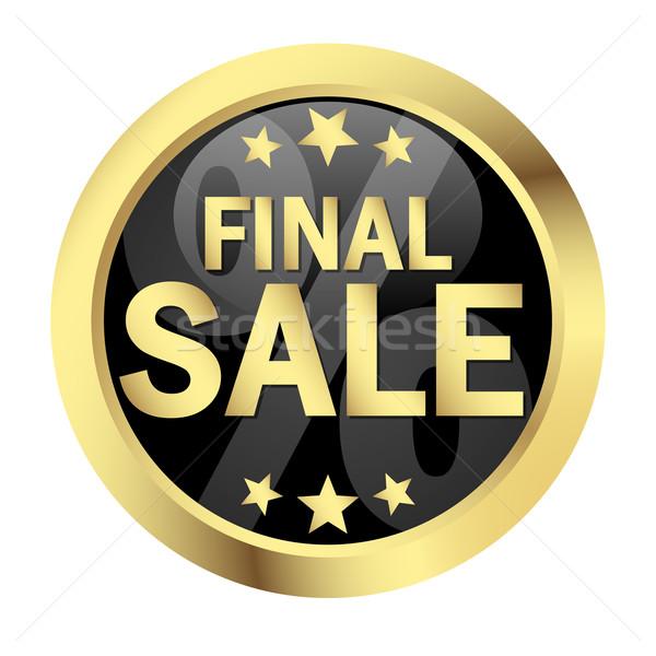 Botão final venda negócio internet inverno Foto stock © opicobello