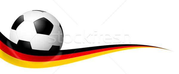 soccer ball behind german banner Stock photo © opicobello