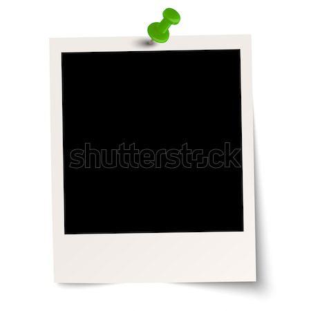 Polaroid pin agulha papel fundo quadro Foto stock © opicobello