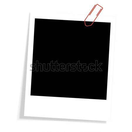 Polaroid with paperclip Stock photo © opicobello