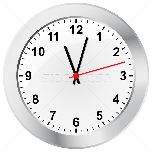 Parede relógio negócio mão tempo trabalhando Foto stock © opicobello
