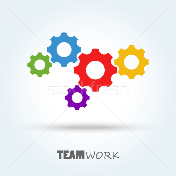 gears for team work symbolism Stock photo © opicobello