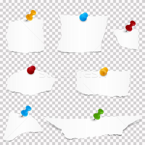 collection of white paper scraps Stock photo © opicobello