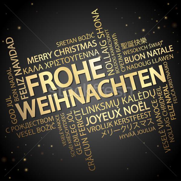 Nuvem da palavra alegre natal texto diferente Foto stock © opicobello