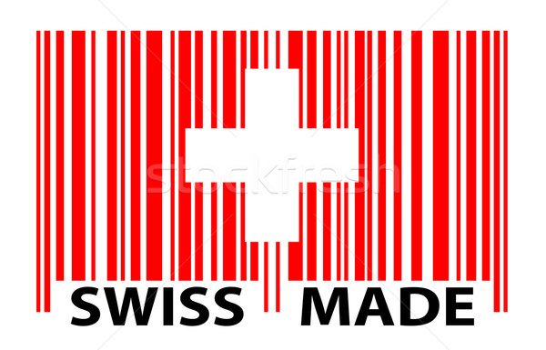 barcode - SWISS MADE Stock photo © opicobello