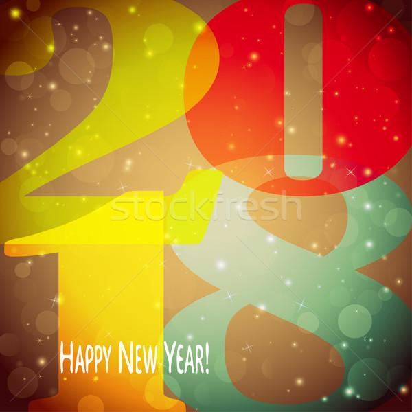 Happy New Year 2018 background Stock photo © opicobello