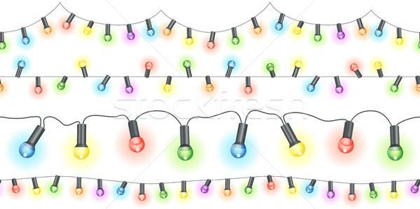 Licht naadloos brandend verschillend kleuren partij Stockfoto © opicobello
