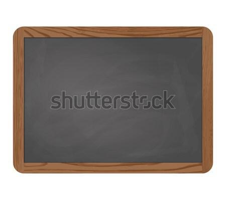 slate blackboard gray with wooden frame Stock photo © opicobello