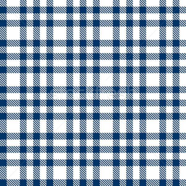 blue checkered pattern - endless Stock photo © opicobello