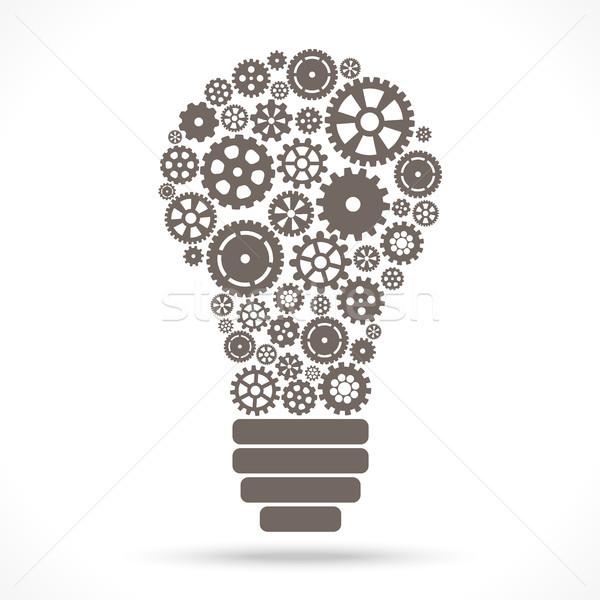 電球 ギア ホイール グレー 協力 チームワーク ストックフォト © opicobello