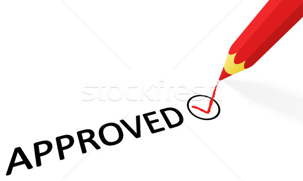 red pencil and text approved Stock photo © opicobello