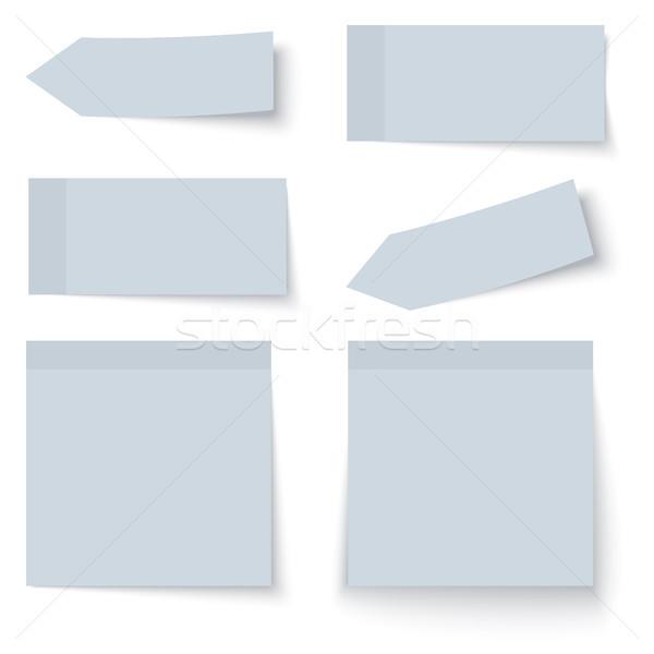 Documentos coleção seis sombra cor azul Foto stock © opicobello