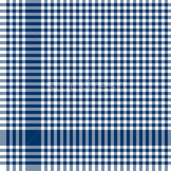 blue checkered table cloth pattern Stock photo © opicobello