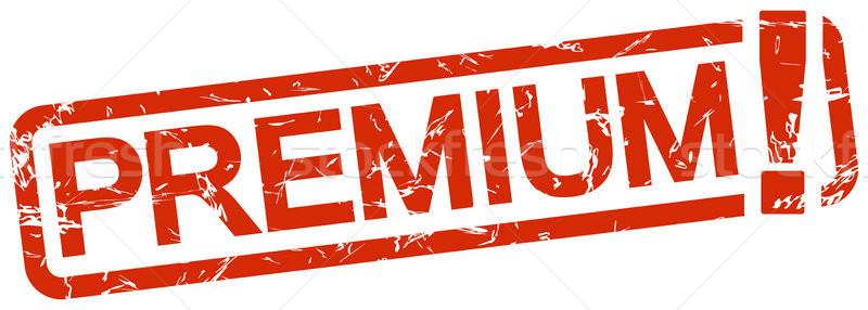 赤 スタンプ 文字 プレミアム グランジ フレーム ストックフォト © opicobello