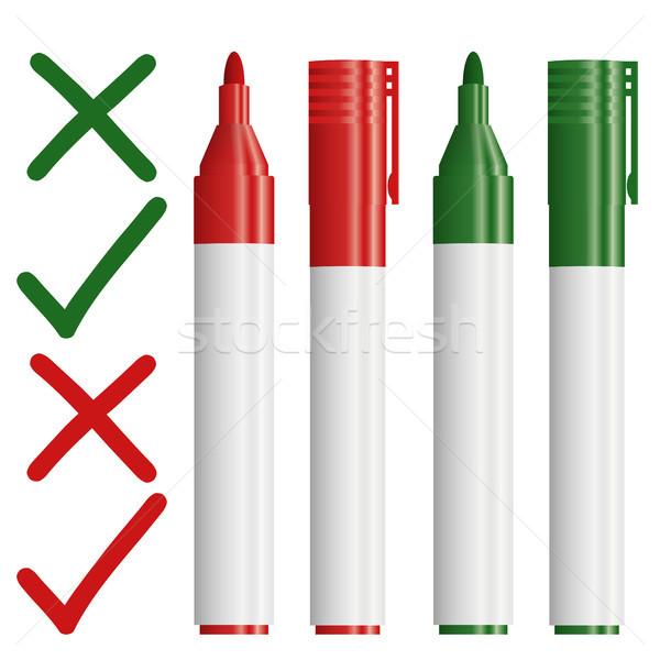 文字 緑 赤 赤十字 チェック ストックフォト © opicobello