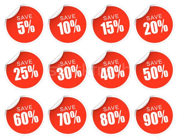 Discount Stickers - red Stock photo © opicobello