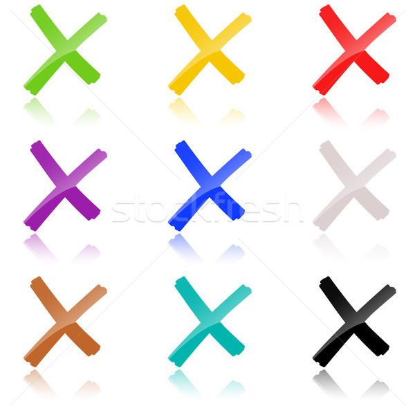 colored crosses collection Stock photo © opicobello