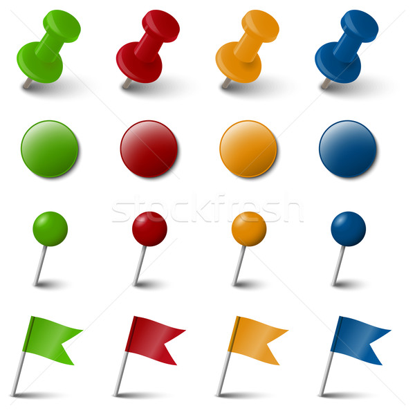 Collection of four colored marking accessories Stock photo © opicobello