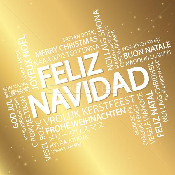 Word cloud Merry Christmas (in Spanish