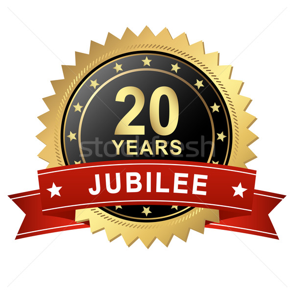 Jubilee Button with Banner - 20 YEARS Stock photo © opicobello