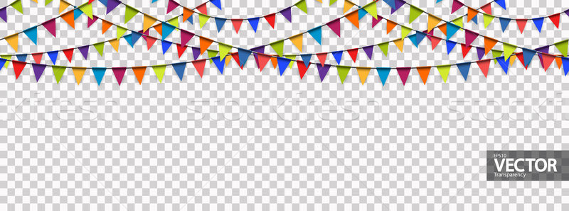seamless garland background with vector transparency Stock photo © opicobello