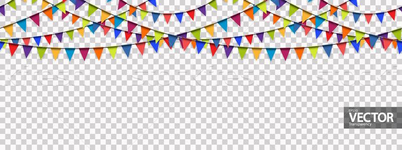Naadloos guirlande vector doorzichtigheid gekleurd partij Stockfoto © opicobello