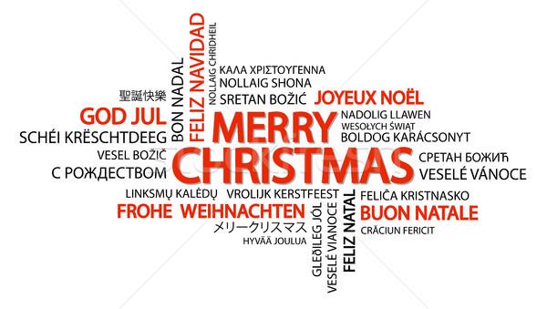 Word cloud Merry Christmas Stock photo © opicobello