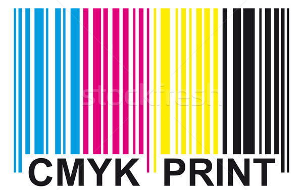 barcode - CMYK PRINT Stock photo © opicobello