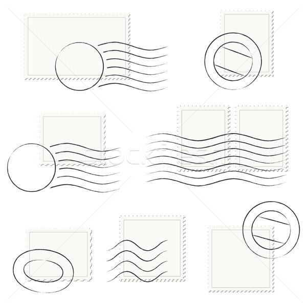 Ensemble timbres lettre tampon papier société Photo stock © opicobello